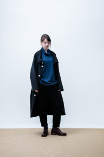 Coat : [ A6_F081C ] FTCT 39,500+tax br; Turtleneck Cut&Sewn : [ A6_F032T ] FVTT 14,500+tax br; Pants : [ A6_F023P ] FTPT 23,000+tax br; Shoes : [ S6_F111R ] REGALIA DUDA_L 98,000+tax br;