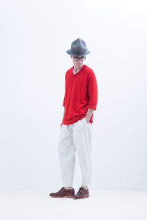 Hat : [ FK_FT021CP ] FMTCP 16,000+tax br; Cut&Sewn : [ S8_FR062T5 ] FBL5T 13,500+tax br; Pants : [ S8_FR203PF ] FFKPT 19,500+tax br; Shoes : [ S6_F116R ] REGALIA DUDA-M 98,000+tax br;
